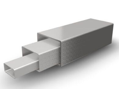 TRUBKA OBDELNÍKOVÁ 20x10x1,5mm, DIN 1.4301(11030020010101)